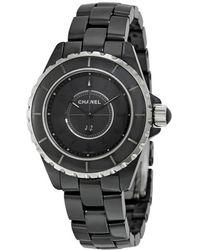 Chanel J12 Black Dial Black Ceramic Watch