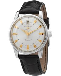 Longines Conquest Heritage Automatic Silver Dial Watch - Metallic