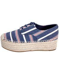 Tory Burch Women's Florence Striped Espadrille Platform Sneakers - Blue