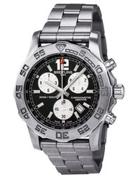 Breitling Pre-owned Colt Chronograph Ii Black Dial Stainless Steel Mens Watch A7338710-bb49ss - Metallic