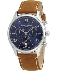 Frederique Constant Classics Chronograph Quartz Blue Dial Mens Watch -292mnb5b6