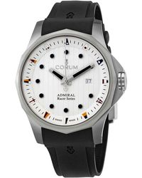 Corum Admiral's Cup Racer Automatic White Dial Watch - Metallic
