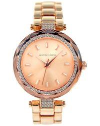 Geoffrey Beene Quartz Rose Gold Dial Ladies Watch - Multicolour