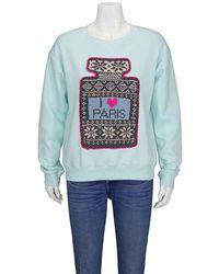 Michaela Buerger Ladies Sweaters Turquoise I Love Paris, Brand - Green