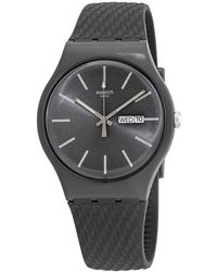 Swatch Bricagris Quartz Gray Dial Mens Watch