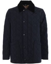 Burberry Navy Cotswold Quilted Jacket, Brand - Blue