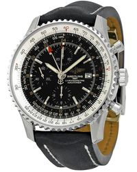 Breitling Navitimer World Black Dial Mens Watch -b726bkld - Multicolour