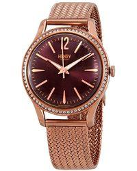 Henry London Hampstead Purple Dial Ladies Watch -sm-0196 - Multicolor