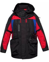 Burberry Detachable Puffer Colour-block Jacket - Black