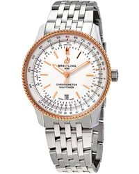 Breitling Navitimer 1 Automatic Silver Dial Mens Watch - Metallic