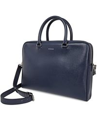 Burberry London Leather Briefcase - Blue