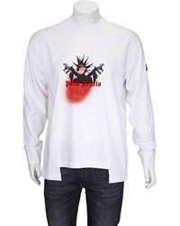 Moncler Mens White Palm Angels Long Sleeve Tee