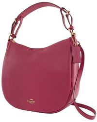 COACH Ladies Leather Sutton Hobo Bag-dusty Pink
