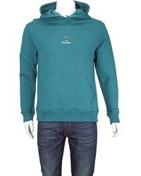 Etudes Studio Klein Logo-embroidered Hooded Sweatshirt - Blue