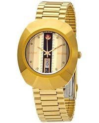 Rado The Original L Automatic Gold Dial Mens Watch - Metallic
