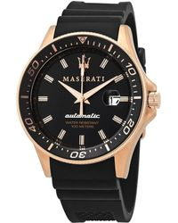 Maserati Sfida Automatic Black Dial Mens Watch - Multicolor