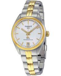 Tissot Pr 100 Powermatic Silver Dial Ladies Watch - Metallic