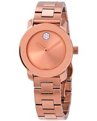Movado - Bold Quartz Rose Dial Ladies Watch - Lyst