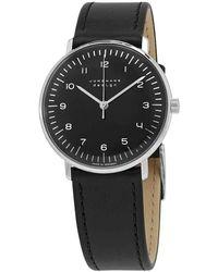 Junghans Max Bill Hand Wind Black Dial Unisex Watch