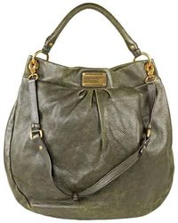 Marc By Marc Jacobs Marc Jacobs Dark Green Pattern Leather Handbag -m393086
