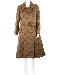 Chloé Ladies Flame-quilted Trench Coat, Brand - Natural