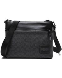 COACH Signature Canvas With Patch Pacer Crossbody - Gray