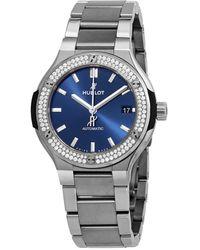 Hublot Classic Fusion Automatic Diamond Blue Dial 38mm Watch