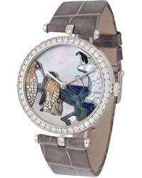 Van Cleef & Arpels Pre-owned Poetic Quartz Diamond Unisex Watch - Metallic