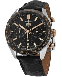 Tag Heuer Chronograph Automatic Black Dial Mens Watch