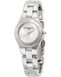 Baume & Mercier Linea Silver Dial Stainless Steel Ladies Watch - Metallic