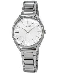 Seiko Conceptual Quartz Silver Dial Ladies Watch - Metallic