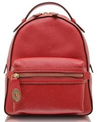 COACH - Ladies Pebbled Leather Campus Backpack 23 - Lyst