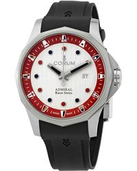 Corum Admiral's Cup Racer Automatic White Dial Watch - Red