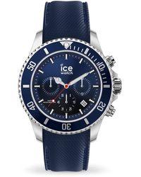 Ice-watch Chronograph Quartz Blue Dial Blue Silicone Watch