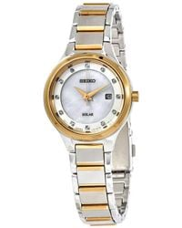 Seiko - Mother Of Pearl Diamond Dial Ladies Watch - Lyst