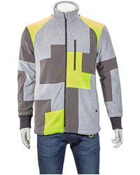 Christopher Raeburn Mens Gray Patchwork Raglan Fleece, Brand
