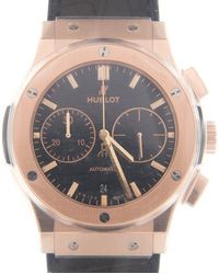 Hublot Classic Fusion Mat Black Dial Automatic Mens Chronograph Watch - Metallic