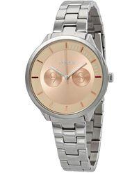 Furla Metropolis Rose Dial Ladies Watch - Metallic