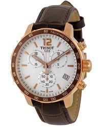 Tissot Quickster Chronograph White Dial Mens Watch T0954173603700 - Multicolor