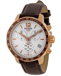 Tissot Quickster Chronograph White Dial Mens Watch T0954173603700 - Multicolour