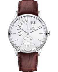 Edox Quartz White Dial Watch  3 Ain - Metallic