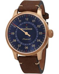 Meistersinger Perigraph Automatic Watch  1017 Br - Blue