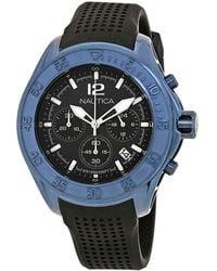 Nautica Nmx 1600 Chronograph Black Dial Mens Watch