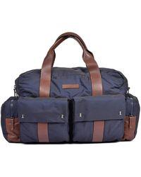 Brunello Cucinelli Blue, Brown Mens Travel Bag -ci203