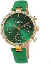 August Steiner Quartz Green Dial Ladies Watch