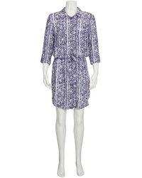 Heidi Klein Ladies Kenya Python Print Shirtdress - Blue