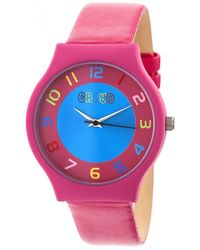 Crayo Jubilee Blue Dial Watch - Pink