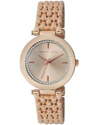 Geoffrey Beene Quartz Rose Gold Dial Ladies Watch - Metallic