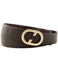 Santoni Mens Brown Leather Belt