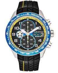 Graham Silverstone Rs Chronograph Automatic Black Checkered Dial Mens Watch